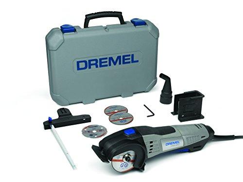 Dremel DSM20 Akku Kompaktsäge 710W Handkreissäge Set (mit 6 Zubehören und 1 Staubsaugeraufsatz, zum Sauberen Schneiden von einer Vielzahl an Materialien)